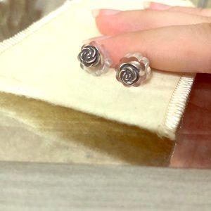 James Avery rose earrings